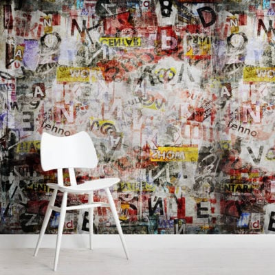 newspaper-graffiti-square-wall-mural