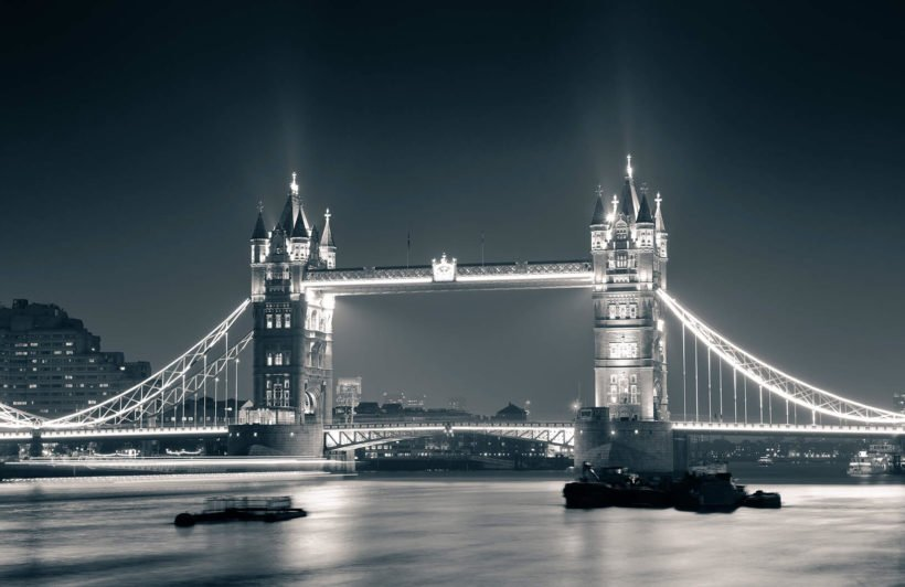 night-time-tower-bridge-plain-wall-murals