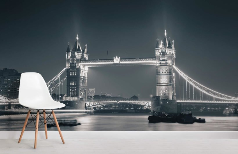 night-time-tower-bridge-room-wall-murals