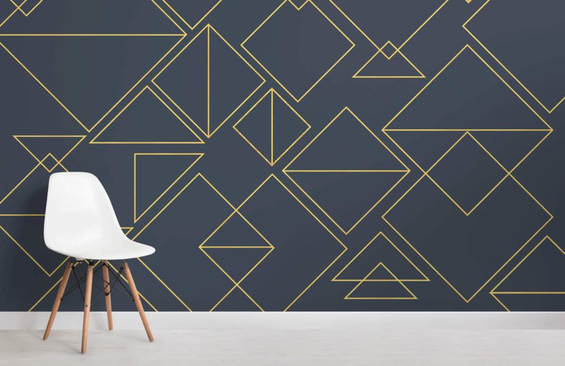 nonagon-classic-navy-triangles-room-wall-mural
