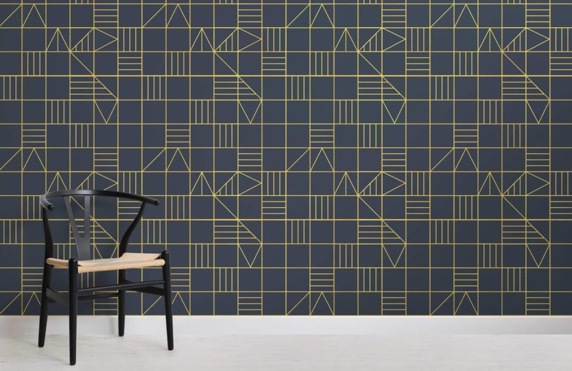 nonagon-classic-squares-room-wall-mural