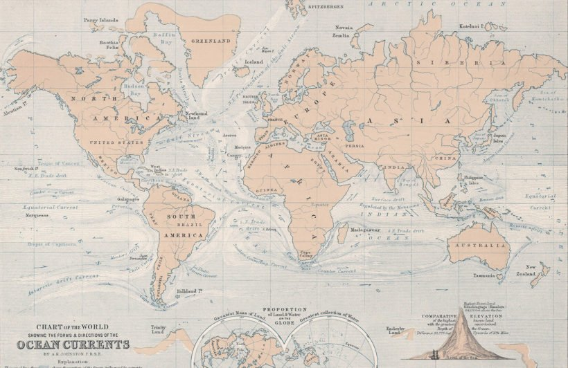 ocean-currents-vintage-map-plain-wall-murals