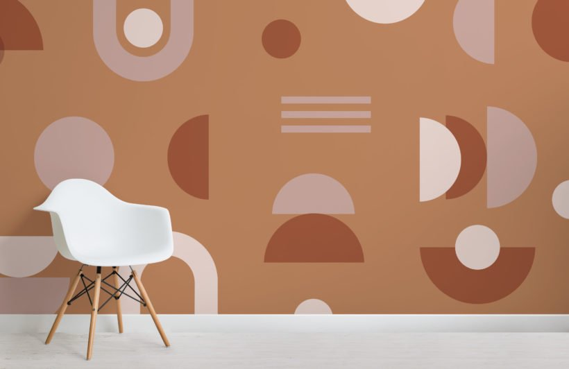 orange-and-neutral-mid-century-modern-geometric-wallpaper-mural