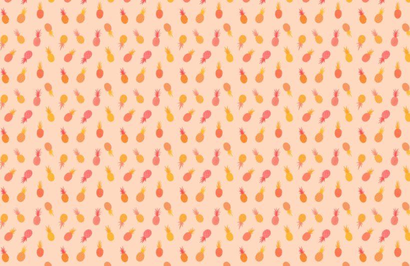 orange and pink-pineapple pattern wallpaper mural
