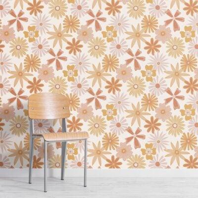 orange-retro-70s-floral-repeat-pattern-wallpaper