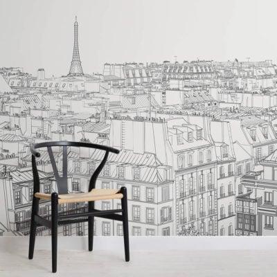 paris-rooftop-illustration-square-1-wall-murals