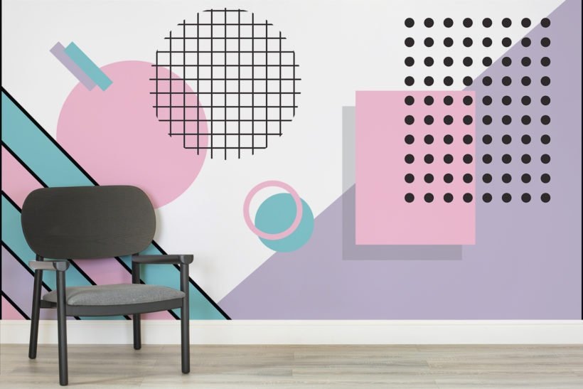 pastel-modern-shapes-memphis-room-wall-mural