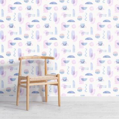 pastel-watercolour-geometric-repeat-pattern-wallpaper