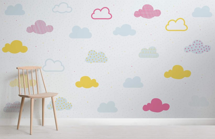 kids-bright-pastel-clouds-nursery-room-wall-mural