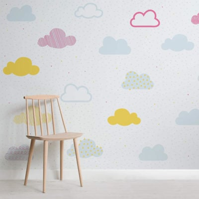 kids-bright-pastel-clouds-nursery-square-wall-mural