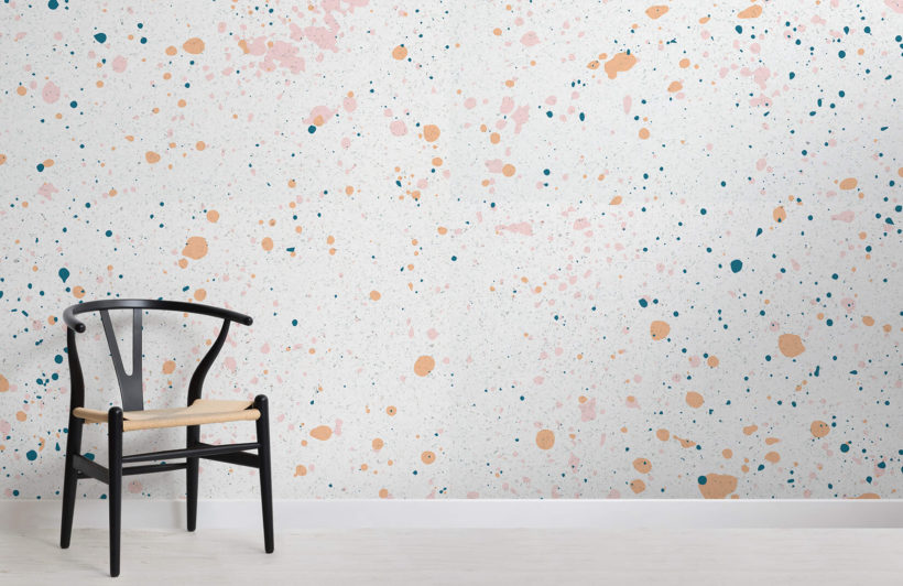 peach-and-green-speckle-room