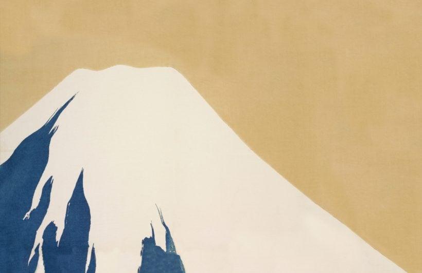 peak of mount fuji by kamisaka sekka japan wallpaper mural