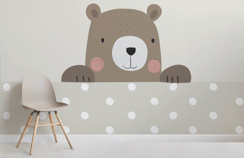 peek a boo bernie-nursery-room-wall mural