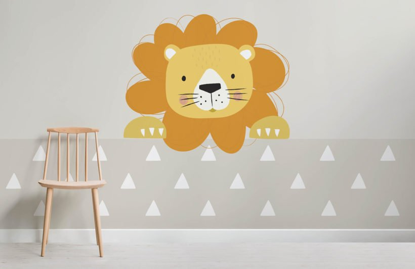 peek a boo larry-nursery-room-wall mural-kj