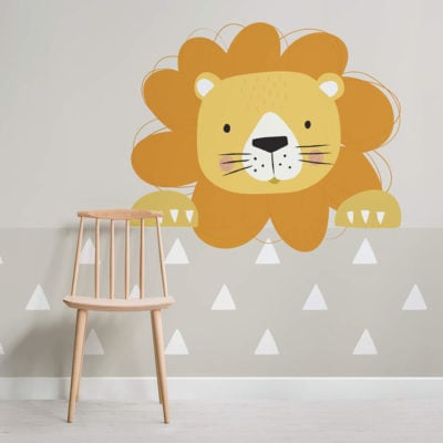 peek a boo larry-nursery-square-wall mural-kj