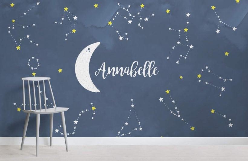 personalised-constellations-nursery-room-wall-mural