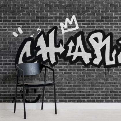 Personalised Graffiti Brick Wall Wallpaper Mural Image
