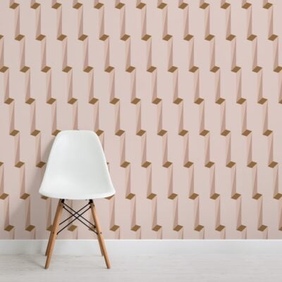 pink-3d-effect-modern-geometric-repeat-pattern-wallpaper