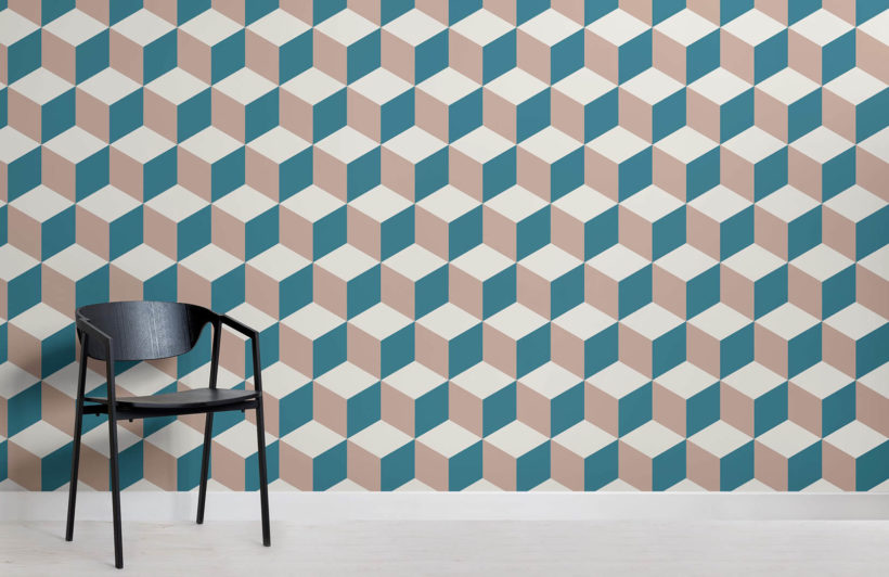 pink-and-blue-cubes-design-room-wall-murals