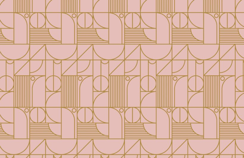 pink-and-gold-geometric-grid-lines-repeat-pattern-wallpaper