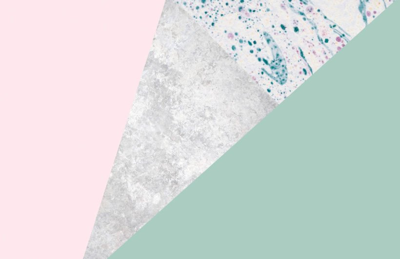 pink-and-green-geometric-collection-plain-wall-mural