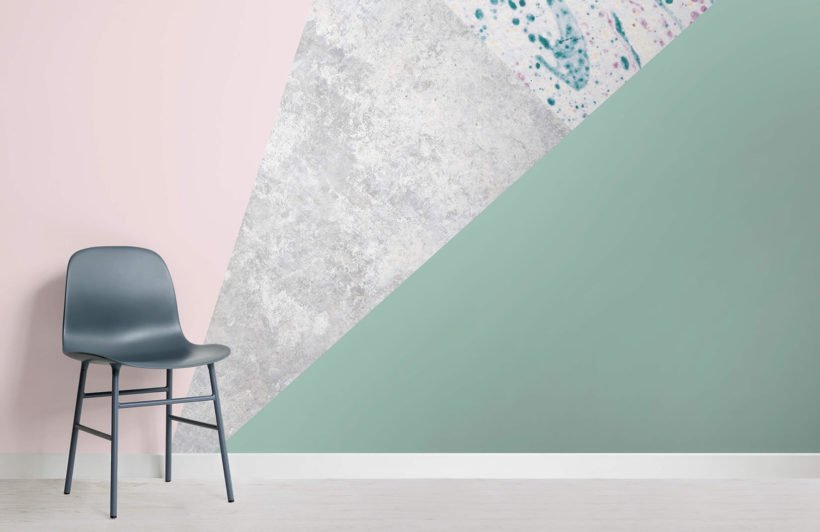 pink-and-green-geometric-collection-room-wall-mural
