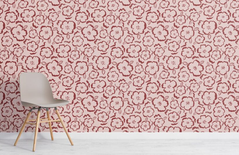 pink-and-red-paint-abstract-floral-repeat-pattern-wallpaper