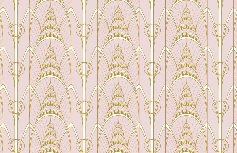 pink-art-deco-chrysler-architectural-pattern-wallpaper-mural