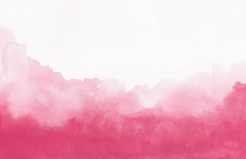 Pink Blend Watercolour Plain