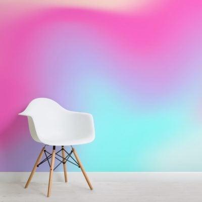 pink bright gradient wallpaper mural