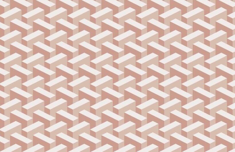 pink-modern-3d-effect-geometric-repeat-pattern-wallpaper