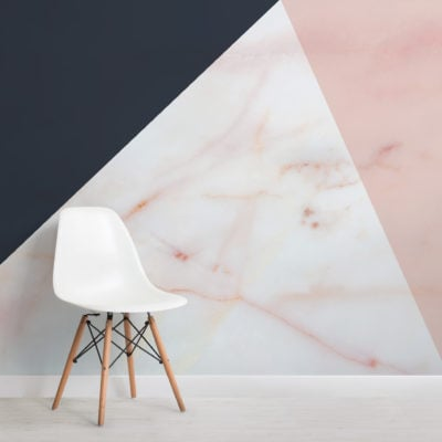pink navy blue marble geometric wallpaper mural-Square