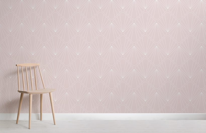 pink-seashell-mermaid-theme-wallpaper-mural