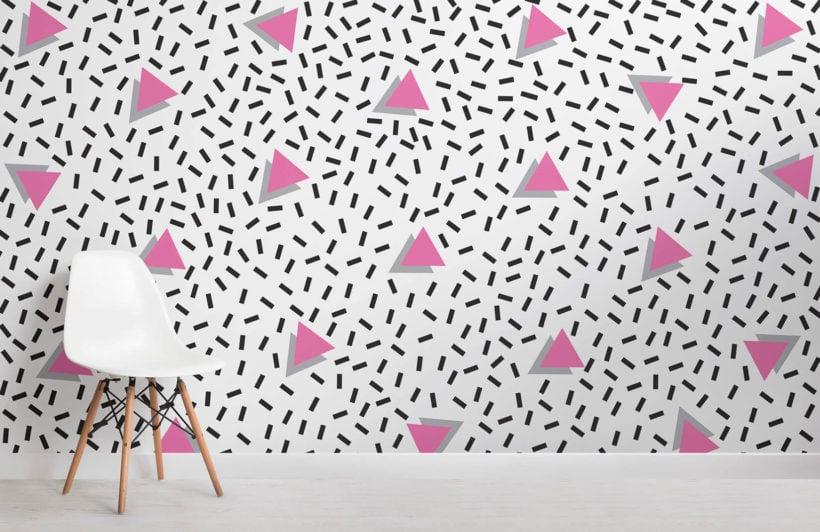 pink-modern-triangle-memphis-room-wall-mural