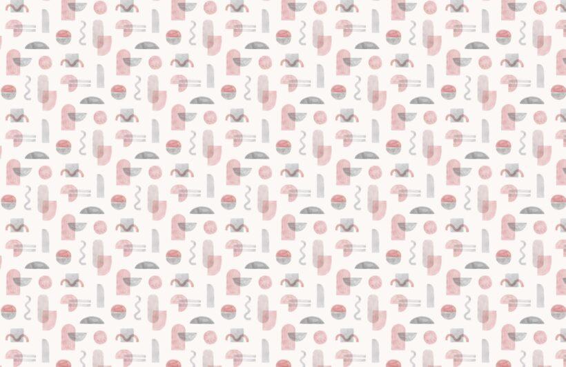pink-watercolour-geometric-repeat-pattern-wallpaper