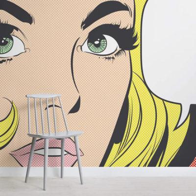 pop-art-woman-retro-square-1-wall-murals