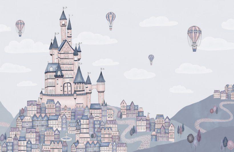 princess palace fairytale wallpaper mural
