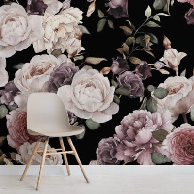 purple-and-pink-dark-floral-square-wall-mural