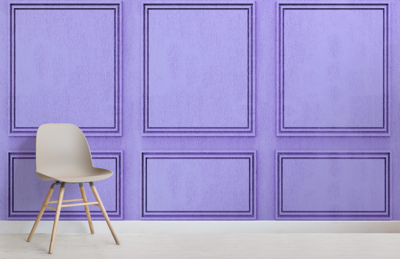 purple georgian wood panel effect wallpaper mural