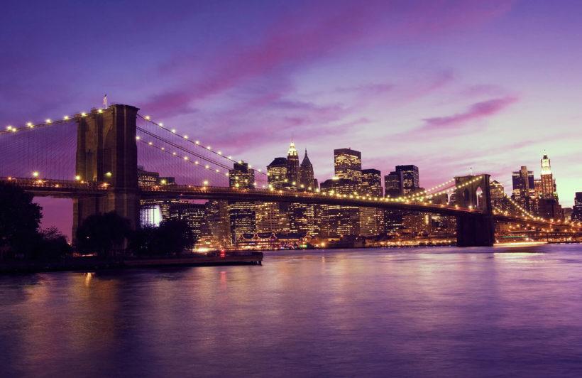 purple-sky-brooklyn-bridge-city-plain-wall-murals