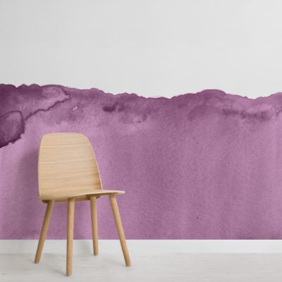 purple wave watercolour wallpaper mural-Square