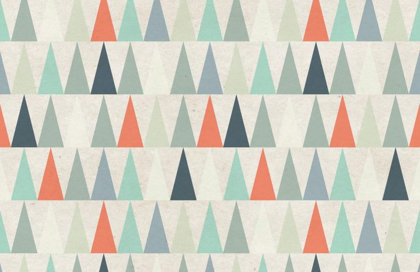 red-triangles-design-plain-wall-murals