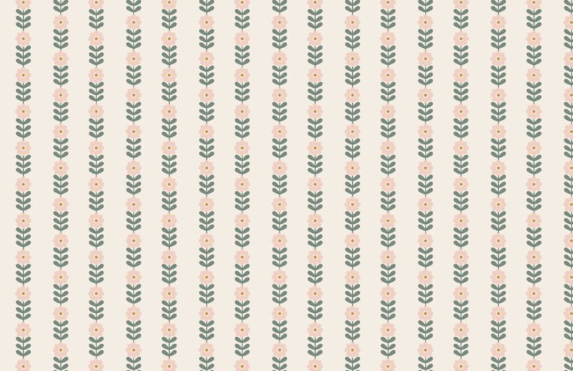 retro-pink-daisy-floral-repeat-pattern-wallpaper