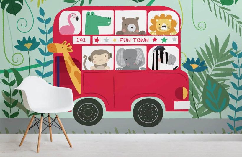 routemaster-nursery-room-wall mural