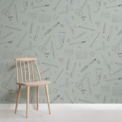 sage-green-art-and-crafts-repeat-pattern-wallpaper