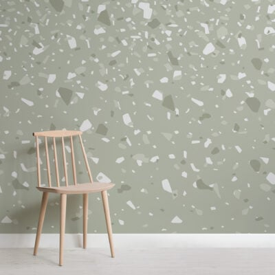 sage-green-ombre-terrazzo-pattern-wallpaper-mural