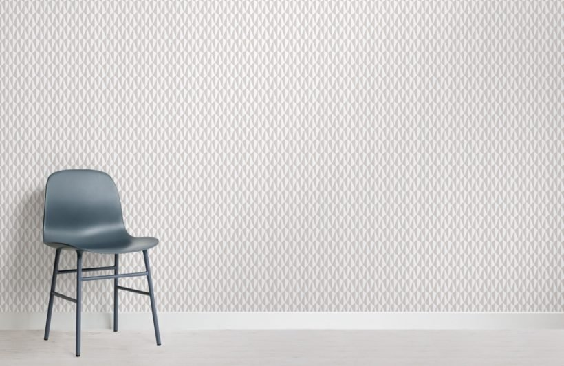 scandinavian geometric print wallpaper mural