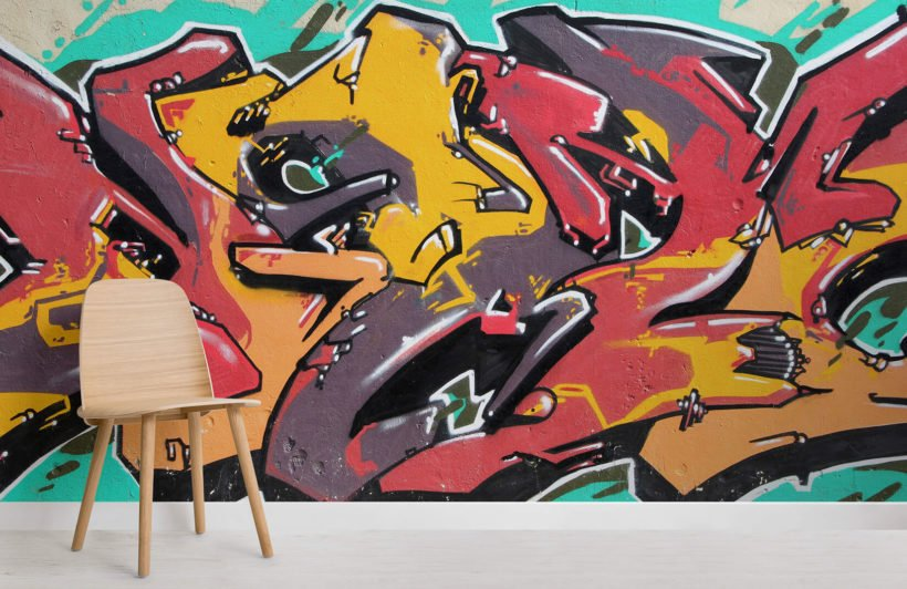 sea-foam-graffiti-room-wall-murals