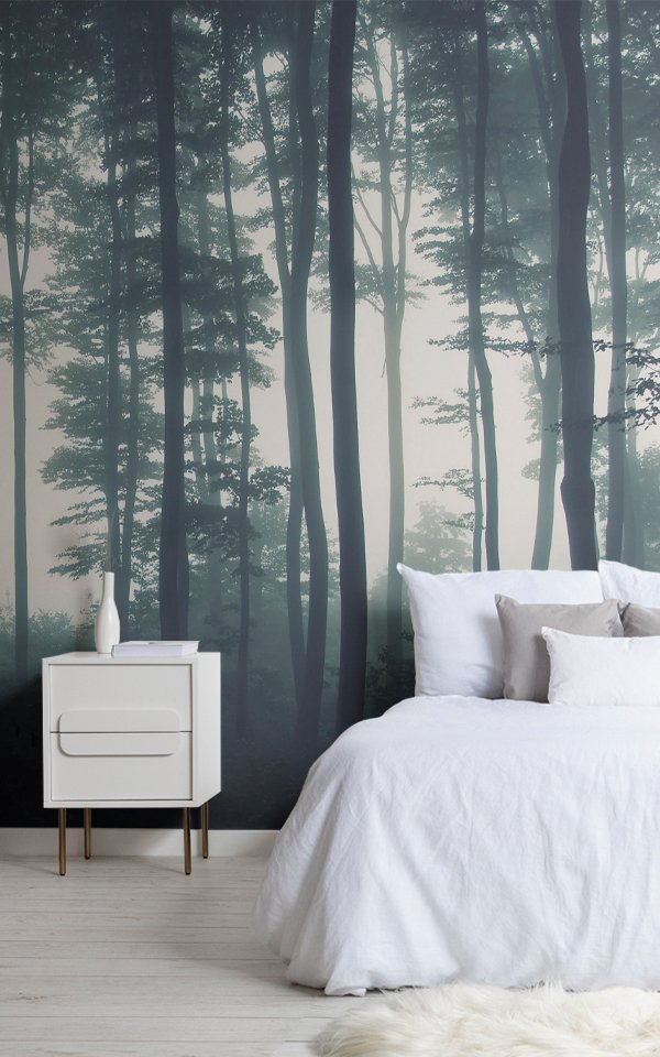 Sea of Trees Forest Wallpaper Mural Image