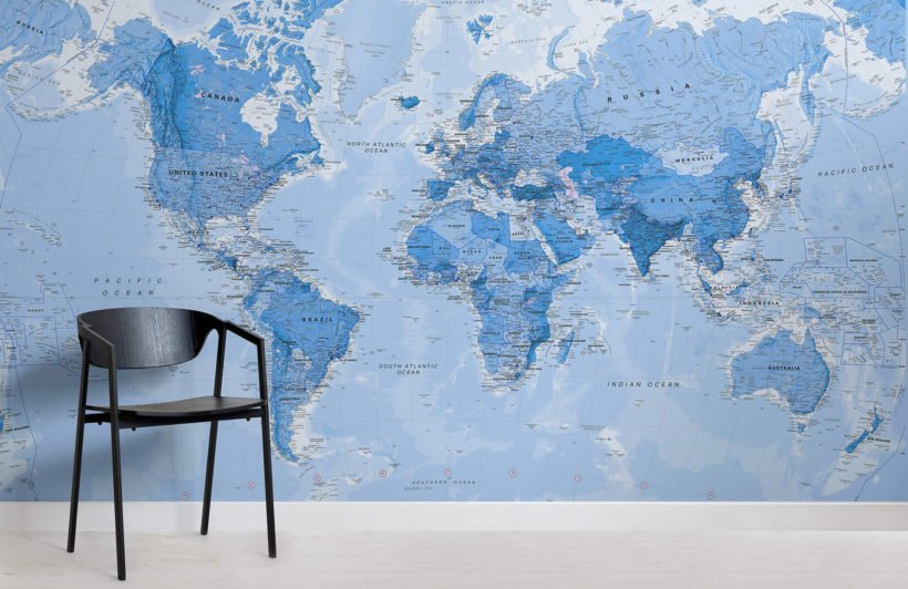 shaded-blue-political-map-maps-room-wall-murals